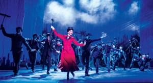 MARY POPPINS -  Step In Time - Zizi Strallen as Mary Poppins and the Company. Photo credit Johan Persson
