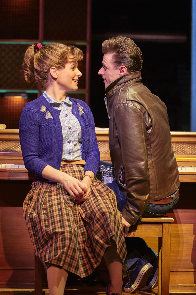 4. L-R Cassidy Janson (Carole King) and Alan Morrissey (Gerry Goffin) in Beautiful The Carole King Musical. Photo Credit Brinkhoff Moegenburg.