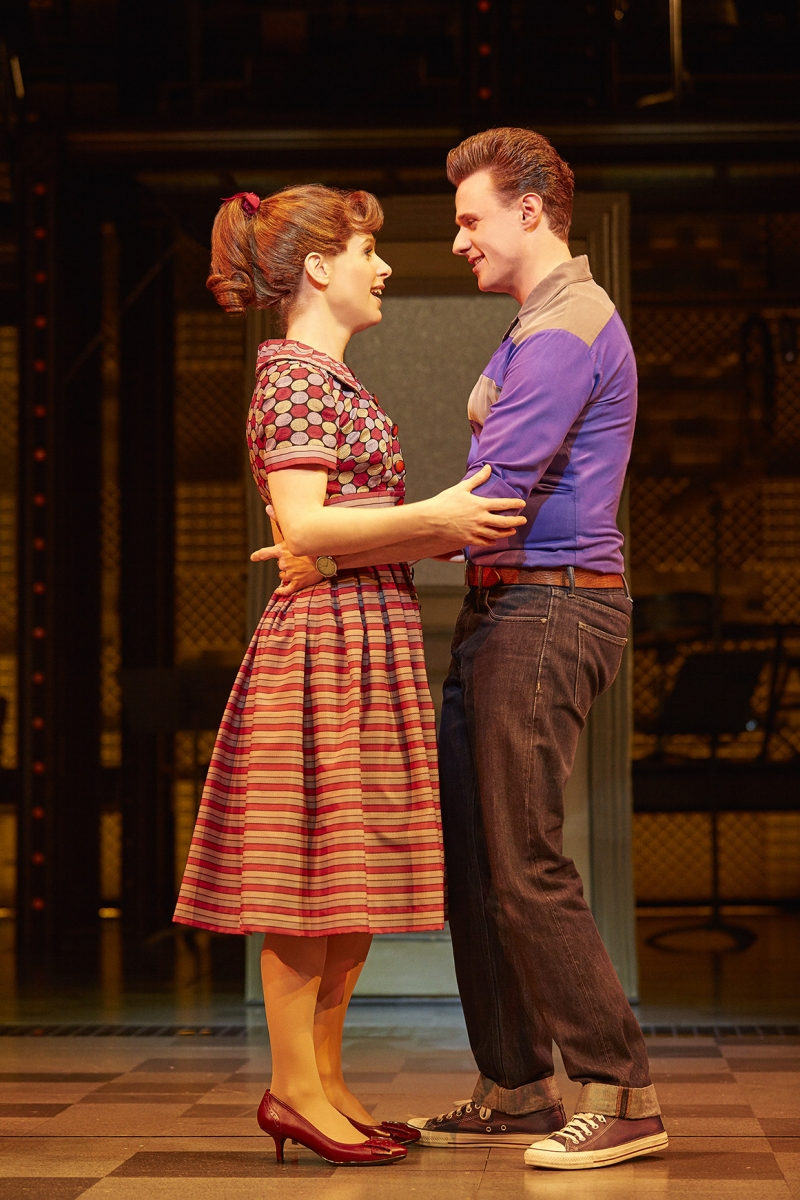 5. L-R Cassidy Janson (Carole King) and Alan Morrissey (Gerry Goffin) in Beautiful The Carole King Musical. Photo Credit Brinkhoff Moegenburg.