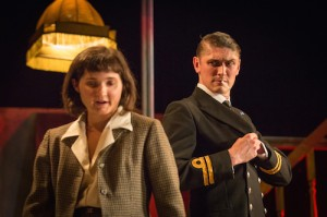 Britten in Brooklyn 11 Ruby Bentall (Carson McCullers) David Burnett  (John Dunne) Photo Marc Brenner