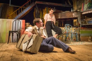 Britten in Brooklyn 2  Ryan Sampson (Benjamin Britten) Sadie Frost (Gypsy Rose Lee) Photo Marc Brenner