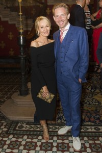 J.K. Rowling and Paul Thornley at the Harry Potter and the Cursed Child Opening Gala. Photo credit Dan Wooller