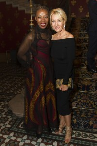Noma Dumezweni and J.K. Rowling at the Opening Gala of Harry Potter and the Cursed Child. Photo credit Dan Wooller