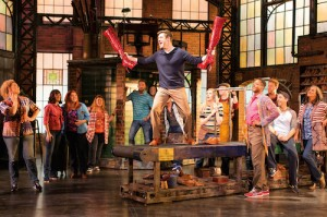David Hunter (Charlie Price) and Kinky Boots ensemble - credit Helen Maybanks