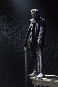 Matt Ryan (Gilbert) in Knives in Hens at the Donmar Warehouse, directed by Yaël Farber. Photo by Marc Brenner