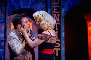Sam Lupton as Seymour and Stephanie Clift as Audrey in Little Shop of Horrors. Photo Credit Matt Martin (2)