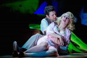 Sam Lupton as Seymour and Stephanie Clift as Audrey in Little Shop of Horrors. Photo Credit Matt Martin (3)