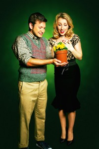 Sam Lupton as Seymour and Stephanie Clift as Audrey in Little Shop of Horrors. Photo Credit Matt Martin (5)