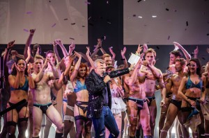 WEST END BARES - Graham Norton and the cast of West End Bares. Photo by Richard Davenport