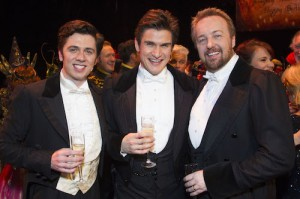 The Phantom of the Opera 30th Anniversary. Nadim Naaman, Gardar Cortes and John Owen Jones.  Photo by Dan Wooller
