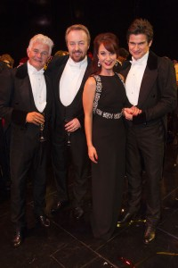The Phantom of the Opera 30th Anniversary. Scott Davies, John Owen Jones, Sierra Boggess and Gardar Cortes.  Photo by Dan Wooller
