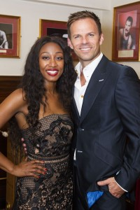 Beverley Knight and Ben Richards backstage at The Bodyguard gala night. Photo credit Dan Wooller