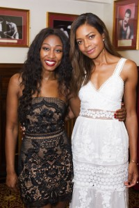 Beverley Knight and Naomie Harris backstage at The Bodyguard gala night. Photo credit Dan Wooller