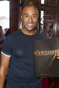 Colin Jackson at the gala night of The Bodyguard. Photo credit Dan Wooller