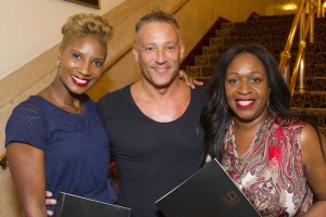 Denise Lewis, Toby Anstis and Angie Greaves at the gala night of The Bodyguard. Photo credit Dan Wooller