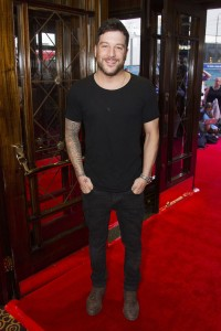 Matt Cardle at the gala night of The Bodyguard. Photo credit Dan Wooller