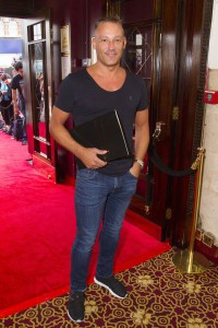 Toby Anstis at the gala night of The Bodyguard. Photo credit Dan Wooller