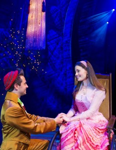 Wicked UK International Tour Iddon Jones (Boq) and Emily Shaw (Nessarose) Photo Matt Crockett 8254
