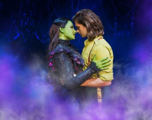 Wicked UK International Tour Jacqueline Hughes (Elphaba) and Bradley Jaden (Fiyero) Photo Matt Crockett 9204
