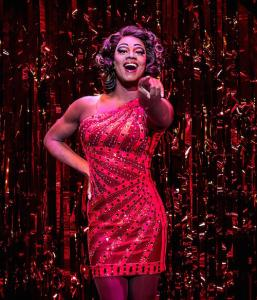 Simon-Anthony Rhoden as Lola in Kinky Boots at the Adelphi Theatre, photo by Darren Bell (2)