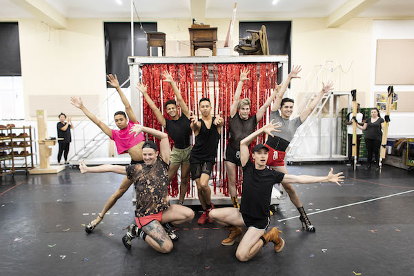 Callum Francis (Lola) and cast in rehearsal for Kinky Boots UK Tour - Photo Credit Helen Maybanks