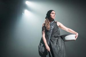 Judith Roddy (Young Woman) in Knives in Hens at the Donmar Warehouse, directed by Yaël Farber. Photo by Marc Brenner (2)