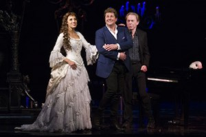 The Phantom of the Opera 30th Anniversary. Celinde Schoenmaker, Michael Ball and Nadim Naaman.  Photo by Dan Wooller.