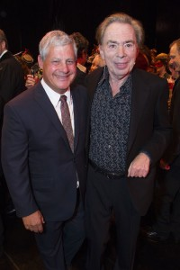The Phantom of the Opera 30th Anniversary.  Cameron Mackintosh and Andrew Lloyd Webber.  Photo by Dan Wooller.