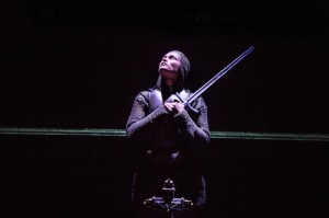 Gemma Arterton (Joan) in the Donmar Warehouse's production of Saint Joan. Dir Josie Rourke. Photo Jack Sain (6)