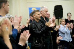 LtoR Gary Barlow and Tim Firth at rehearsals for The Girls, credit Matt Crockett (3)