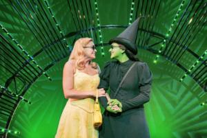 Helen Woolf (Glinda) and Nikki Bentley (Elphaba) Photo By Matt Crockett 8158 RT