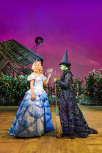 Helen Woolf (Glinda) and Nikki Bentley (Elphaba) Photo By Matt Crockett 9146 RT