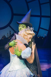 Helen Woolf (Glinda) and Nikki Bentley (Elphaba) Photo By Matt Crockett 9305 RT