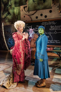 Kim Ismay (Morrible), Simeon Truby (Dillamond) and Nikki Bentley (Elphaba) Photo By Matt Crockett 7504 RT