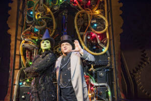 Nikki Bentley (Elphaba) and Andy Hockley (Wizard) Photo By Matt Crockett 9059 RT